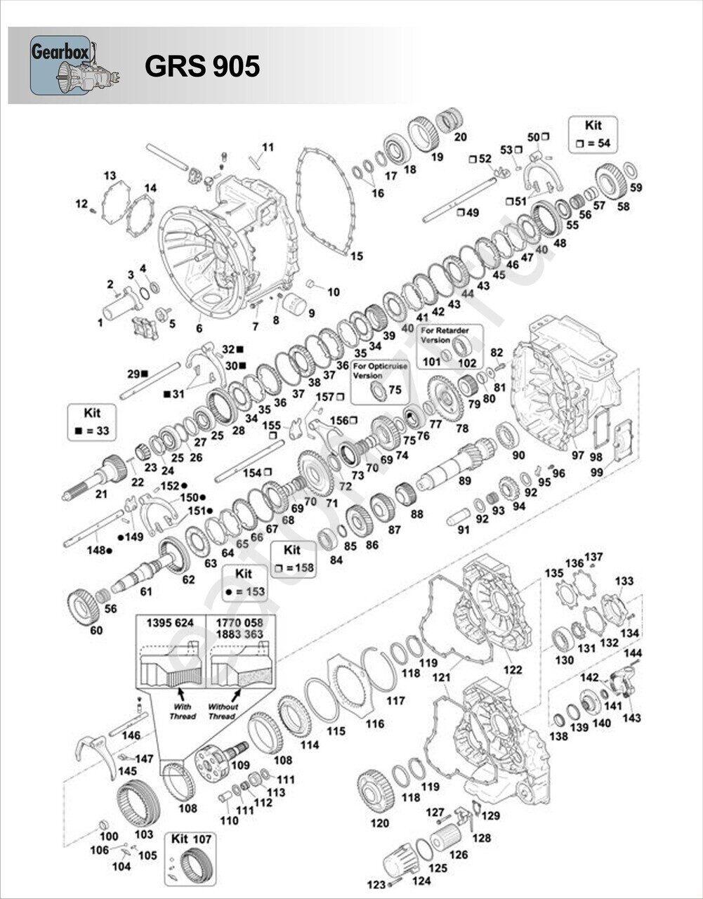 Схема коробки кпп скания